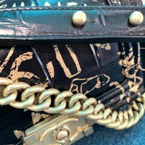 CHANEL Bags - Chanel Crocodile Embossed BOY Handbag SS2019